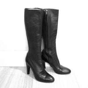 Prada soft lambskin tall slim boots